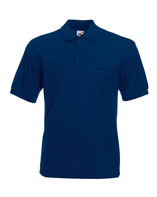 Pocket Polo 65/35 T-Shirt von Fruit of the Loom S M L XL XXL XXL  verschiedene Farben: Amazon.de: Bekleidung