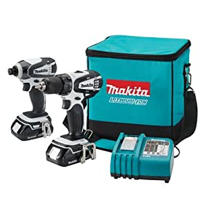 Makita LCT200W 18-Volt Compact Lithium-Ion Cordless Combo Kit, 2-Piece (Discontinued by Manufacturer)