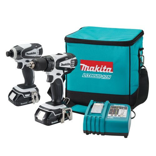 Makita LCT200W 18-Volt Compact Lithium-Ion Cordless Combo Kit, 2-Piece (Discontinued by Manufacturer) ()