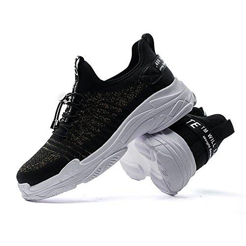 Black De Pour Running Chaussures gold Noir Sunjcs 39 Homme S4q77F