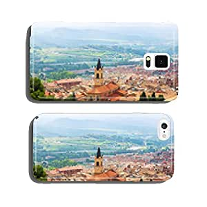 view of town in Pyrenees. Berga cell phone cover case iPhone5