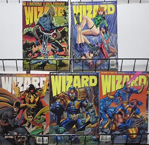 WIZARD Magazine #40,44,46,47,49(1994-1995) VG/+Batman, Wolverine, Violator,Gen13