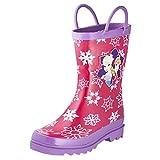 Disney Frozen Girls Anna and Elsa Pink Rain Boots - Size 12 M US Little Kid
