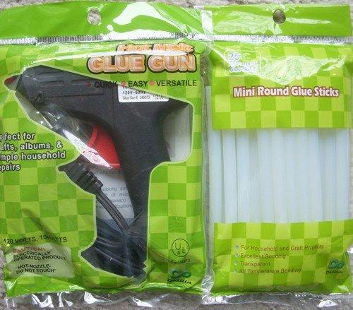 Large Glue Gun and 8'' 275pc Glue Sticks (24 Wot)