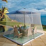 BrylaneHome Mesh Mosquito Umbrella Canopy (White,0)