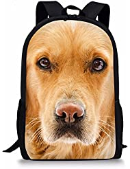 HUGS IDEA 3D Printing Dogs Cute School Bookbag Travel Backpack