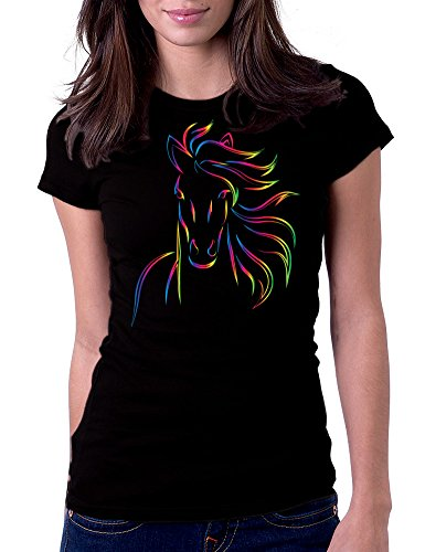 Horse Bold Color Art Design - Womens Tee T-Shirt, Medium, for sale  Delivered anywhere in USA