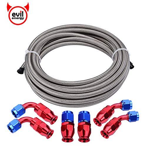 - EVIL ENERGY 6AN Teflon PTFE E85 Fuel Line Kit 10Ft