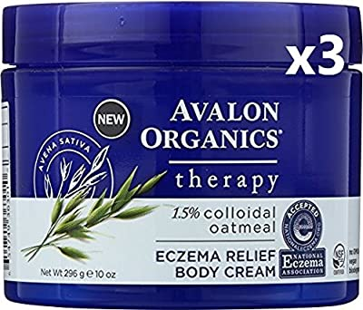 Avalon Organics Therapy, Eczema Relief Cream, 10 ounces (Pack of 3)