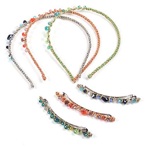 KLOUD City Fashion Multiclolor Handcraft Crystal Rhinestones Women Hairband Hair Accessories Hair Band Headband (Style 4)