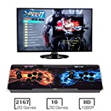 MYMIQEY 3D Pandora Key 7 Arcade Game Console | 2177 Retro HD Games | Full HD (1920x1080) Video | 2 Player Game Controls | Support Multiplayer Online | Add More Games | HDMI/VGA/USB/AUX Audio Output