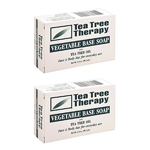 - Tea Tree Therapy, Soap Bar, Vegetable Base, 3.5 oz (2-Pack)