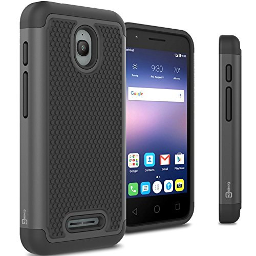 Alcatel Dawn Case, Alcatel Streak Case, Alcatel Ideal Case, CoverON [HexaGuard Series] Slim Hybrid Hard Case for Alcatel One touch Dawn – Black (Not Fit Ideal Xcite)