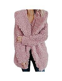 Women Winter Warm Coat,Vanvler Ladies Artificial Wool Lapel Jacket Fashion Outerwear