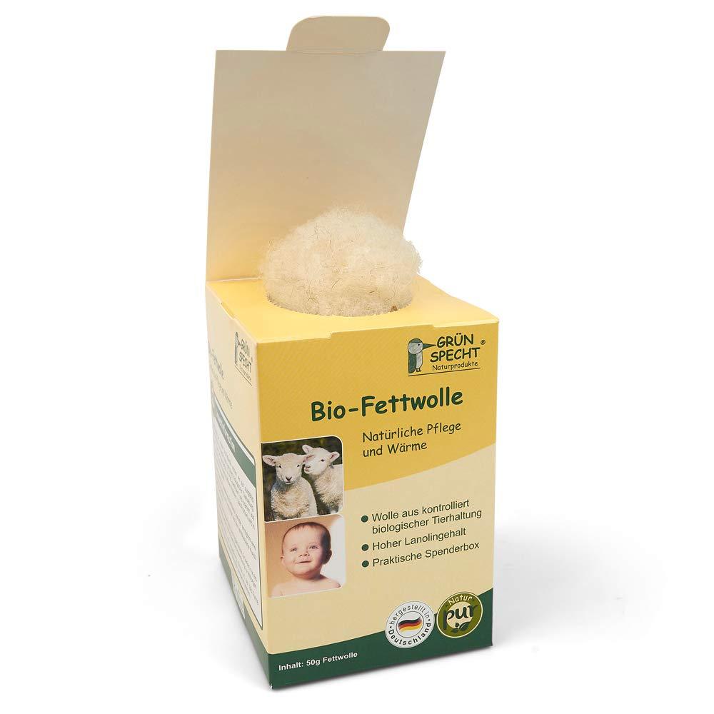 lana de oveja con alto contenido de lanolina de la piel y Baby Cuidado Beige gr/ünspecht 638/ rohwolle 50/g /00/bio de grasa lana KBT