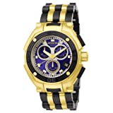 Invicta Men's 6272 Speedway Collection Elegant Chronograph 18k Gold-Plated and Polyurethane Watch
