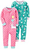 Carter's Baby Girls' 2-Pack Cotton Footless