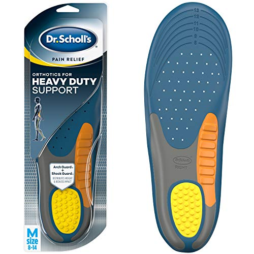 Dr. Scholl's HEAVY DUTY SUPPORT Pain Relief Orthotics // Designed for Men over 200lbs with Technology to Distribute Weight and Absorb Shock with Every Step (for Men's 8-14) from Dr. Scholl's