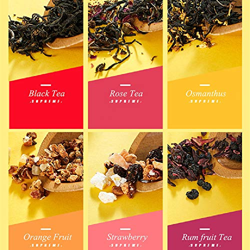 Yan Hou Tang Supremeioyd Chinese Yingde Black Tea 10 Bags with 6 Taste Samplers for Royal British Afternoon Tea