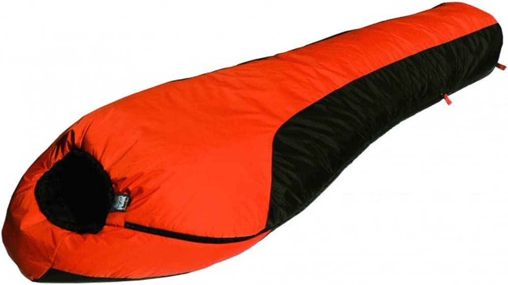 High Peak Outdoors Moose Country Gear-20 Degree Regular Sleeping Bag, Orange Grey