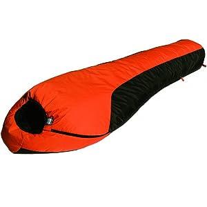High Peak Outdoors Moose Country Gear-20 Degree Regular Sleeping Bag, Orange/Grey