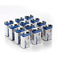 EBL 600mAh 9 Volt Li-ion Rechargeable 9V Batteries Lithium-ion, 12 Pack