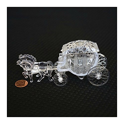 Royal Vintage Cinderella Horse and Carriage Coach Cake Topper Clear - Cinderella Cake Decorations