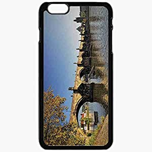 Unique Design Fashion Protective Back Cover For iPhone 6 Plus Case Slim (5.5 inch) Czech Republic Prague Bridge Black