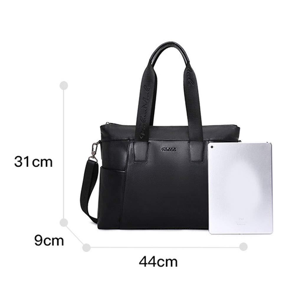 STAYGEL Business Travel Computer Bag Briefcase for Mens Color : Black, Size : M Leather One Shoulder Slung Laptop Case