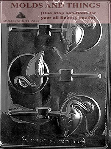 FLAMINGO LOLLY ON DISC Animal Chocolate Candy Mold With Copywrited Candy Making Instruction