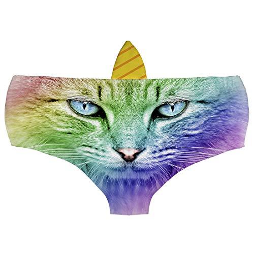 Ababalaya Womens' 3D Animal Print Cute Briefs with