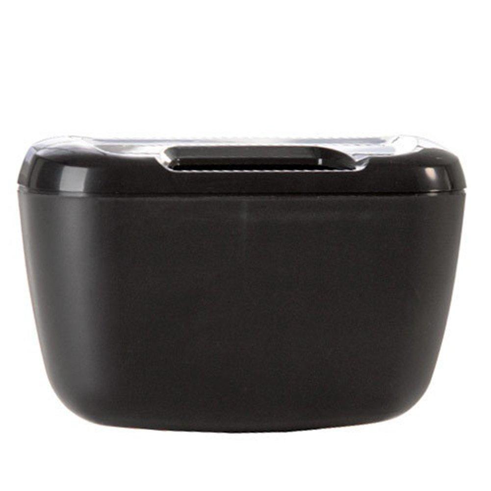 Qsbai Universal Travel Auto Car Trash Can Bin Bag Rubbish Garbage Holder Tool Mini - Black