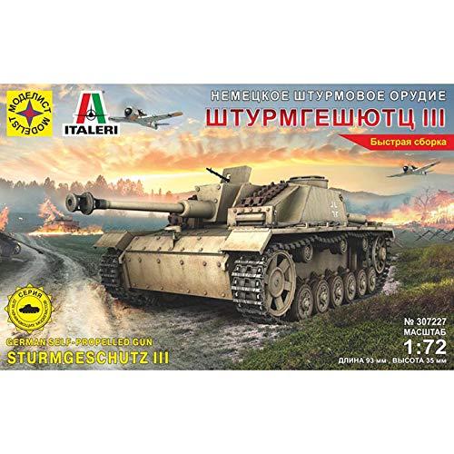 StuG III Ausf. G German WWII Assault Gun Russian Tank Model Kits Scale 1:72 (Stug Iii G Best Gun)