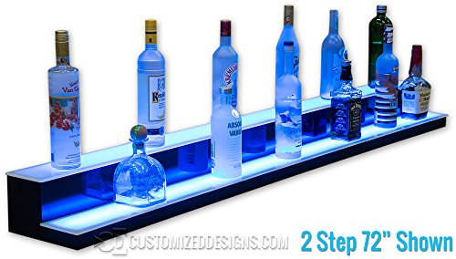 2 Tier LED Liquor Bottle Display - Low Profile Style (30