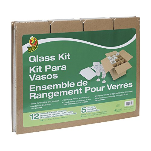 - Duck Brand Glass Kit, 5 Corrugate Dividers and 12 Foam Pouches, Box Not Included (1362685)