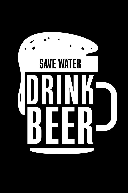 Save water drink beer blank paper sketch book artist
