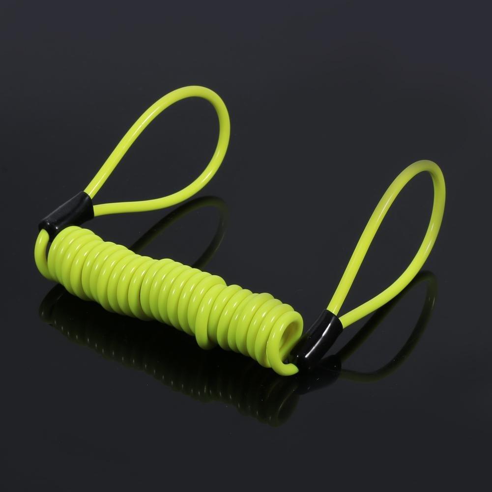 corda senza anello Keenso 1,5 m freno a disco per moto con molla antifurto