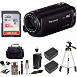 Panasonic HC-W580K Full HD Camcorder with Wi-Fi, Built with Multi Scene Twin Camera Deluxe Bundle