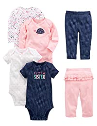 Simple Joys by Carter's Girls' 6-Piece Little Character Set