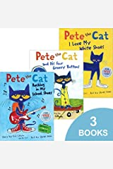 Pete the Cat Set (Pete the Cat I Love My White Shoes, Pete the Cat Rocking in My School Shoes, and Pete the Cat and His Four Groovy Buttons) by Eric Litwin (2013) Paperback Paperback