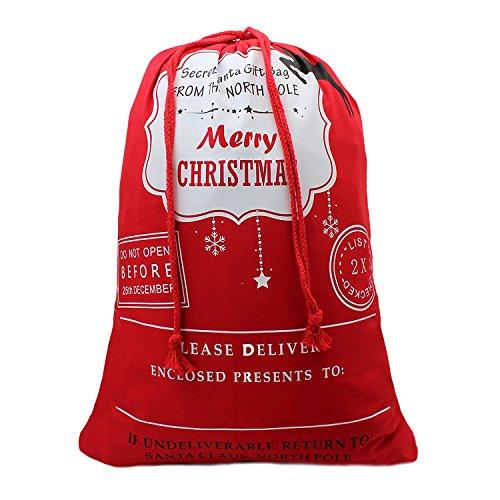 TONOS Merry Bag from North Pole Santa Gift Socks Sack for Kids Presents Xmas Bag for Self Personalization,Large Capacity-t7
