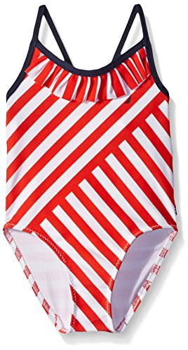 Nautica Sportswear Multi Directional Stripe Swimsuit