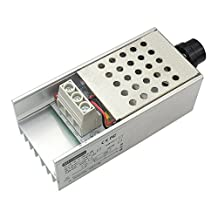 uniquegoods AC 220V 10000W high power SCR Motor Speed Controller Voltage Regulator Dimming Attemperation thermoregulation PWM Modulation