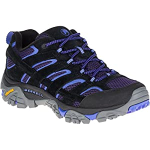 51wy DDNQML. SS300  - Merrell Women's Moab 2 Vent Hiking Shoe, Black/Baja, 10 M US