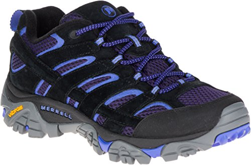 Merrell Women's Moab 2 Vent Hiking Shoe, Black/Baja, 9.5 M US