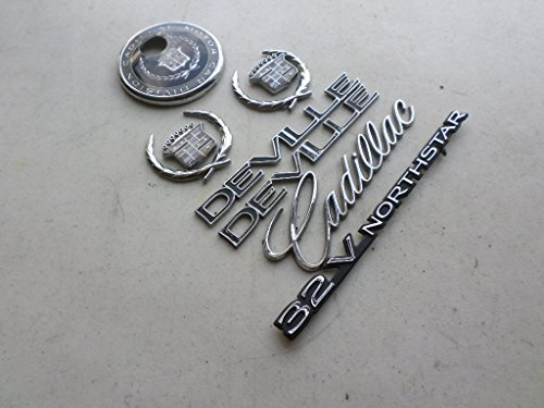 Cadillac Deville Northstar - 97-98 Cadillac Deville 32v.northstar Side Fender Chrome Wreath Crown Rear Trunk Logo Emblem Decal Set of 9
