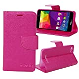 BLU Advance 5.0 case, Miady PU Leather Magnetic Folio Wallet Case for BLU Advance 5.0 Phone - Rose Red