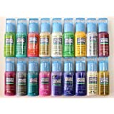 Plaid Gallery Glass Window Color Acrylic Paint Set (2-Ounce), PROMOGGII Best Selling Colors II