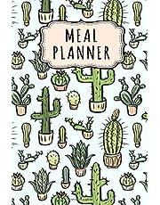 Meal Planner: Meal Planner / Grocery List Notepad | Cactus Design | 52 Weeks (6x9)