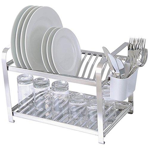 Escorredor para 16 pratos inoxidável.